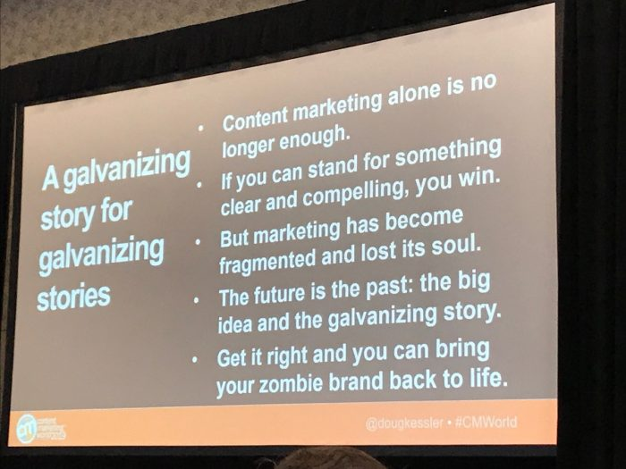 An image from content marketing world 2020